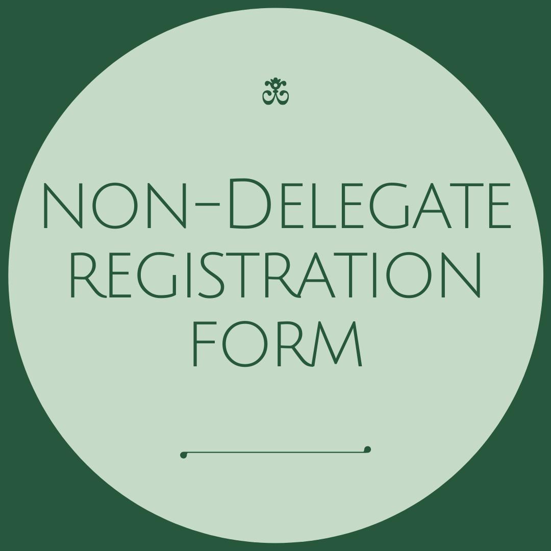 1Non-Delegate Registration Form