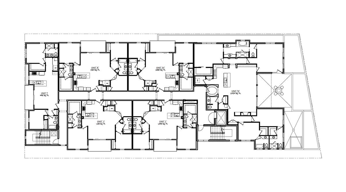 proposed 3rd floorplan line drawing