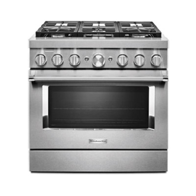 a stainless steel gas oven