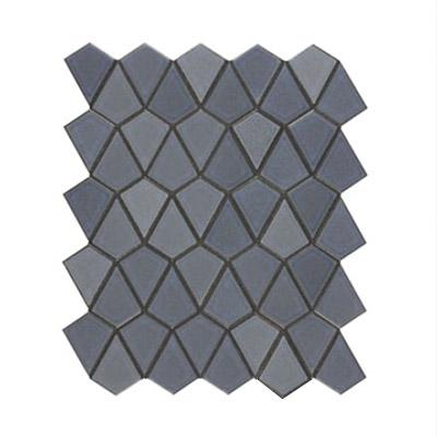 a dark gray arrowhead pattern tile finish