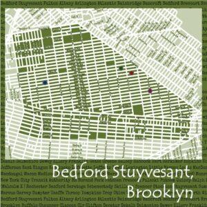 Bed Stuy Maps Landscape 6x6