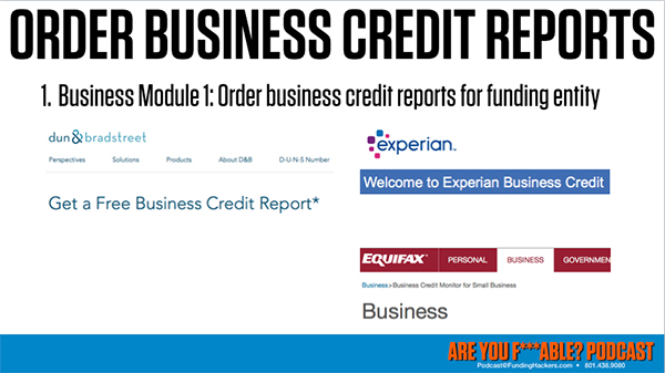 AYF 40   Ordering Business Credit Reports