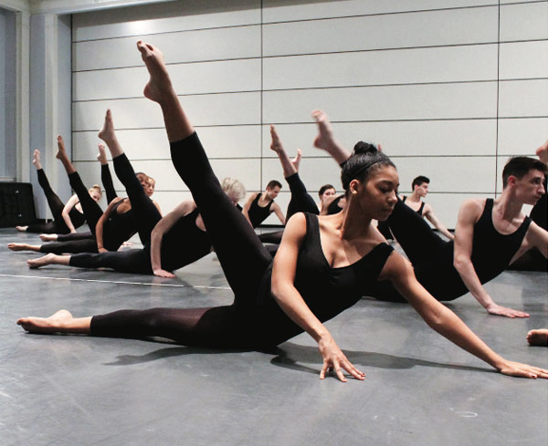 Marymount Manhattan College Dancers in O'Donnell Technique Class