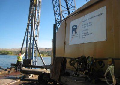 Rock Drilling Pile Installation