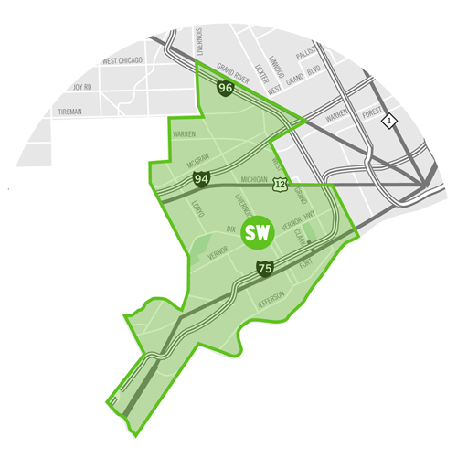 Southwest – Detroit SOUP on map of dearborn, map of neighborhoods in detroit, map of lincoln park, map of brownstown, map of romulus, map of west detroit, map of river rouge, map of se detroit, map of westland,