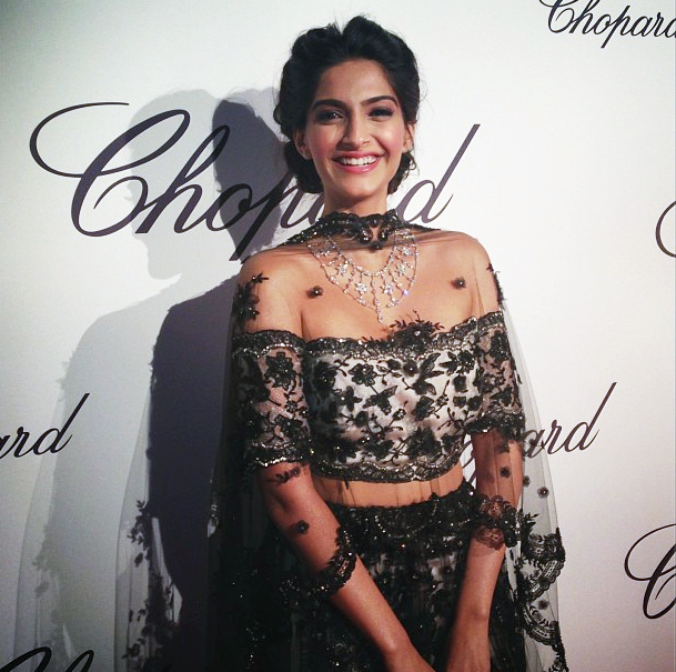 Sonam Kapoor Chopard Cannes Party Bollywood actress fashion