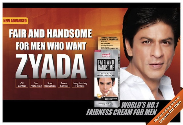 Shah Rukh Khan fair and lovely ad
