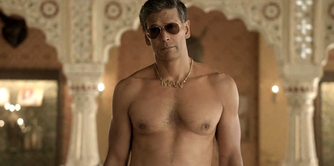 milind soman as the Old Spice Man in India