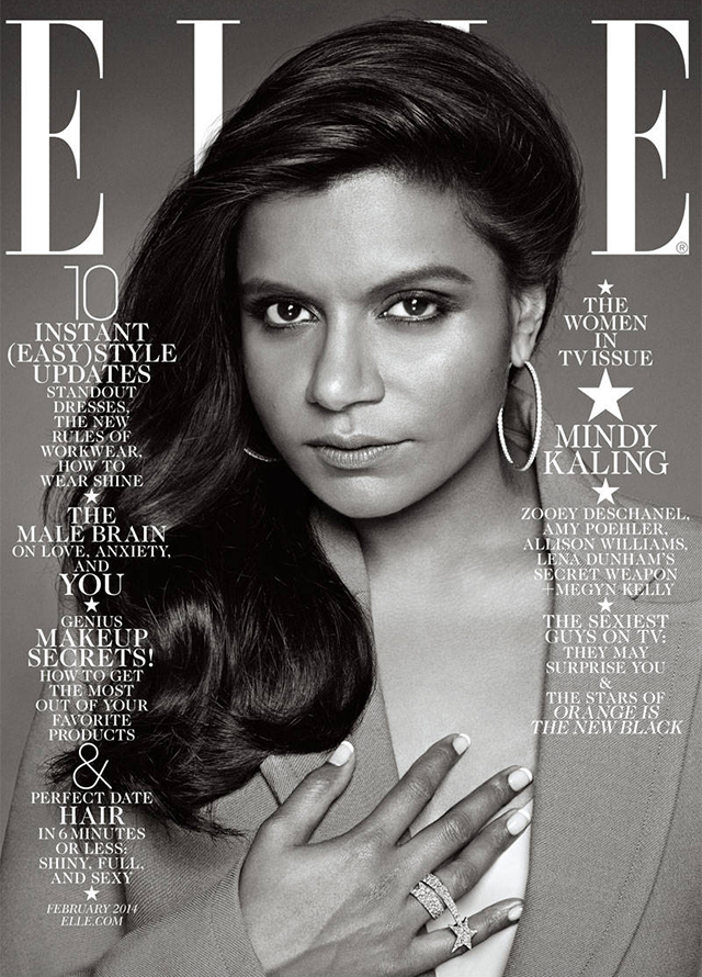 Elle Magazine February 2014 with Mindy Kaling