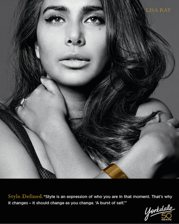 Lisa Ray photographed by Bryan Adams for Yorkdale Style