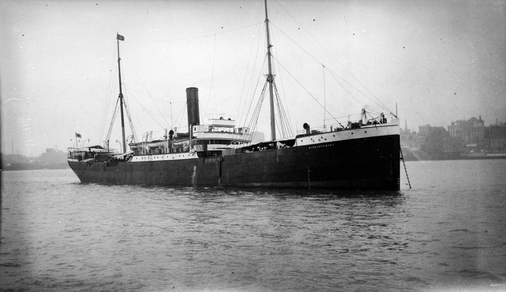 KOMAGATA MARU MOORED IN UNKNOWN HARBOUR