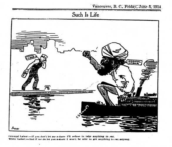 Komagata Maru Cartoon