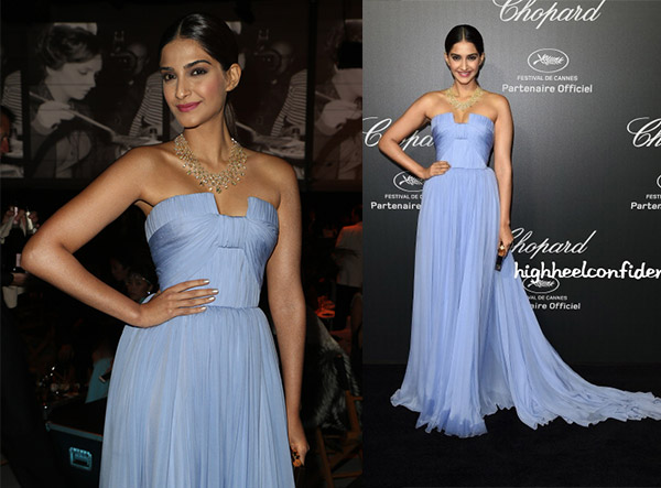 sonam kapoor cannes 2014 red carpet fashion chopard