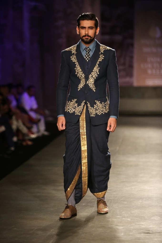Anju Modi India Couture Week Fashion dhoti indian mens fashion