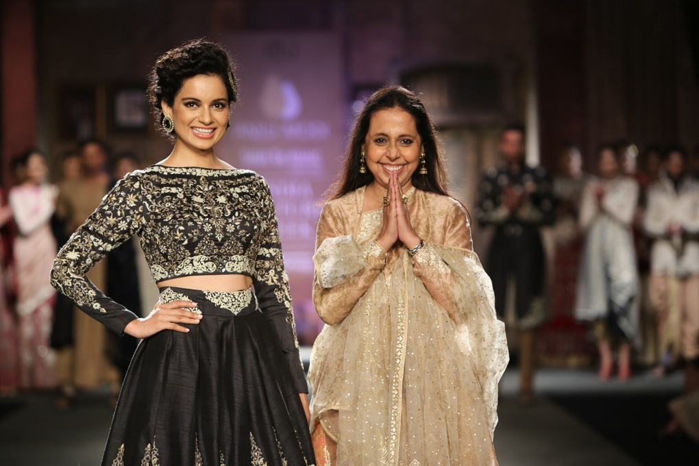 Anju Modi India Fashion Couture Week with Kangana Ranaut
