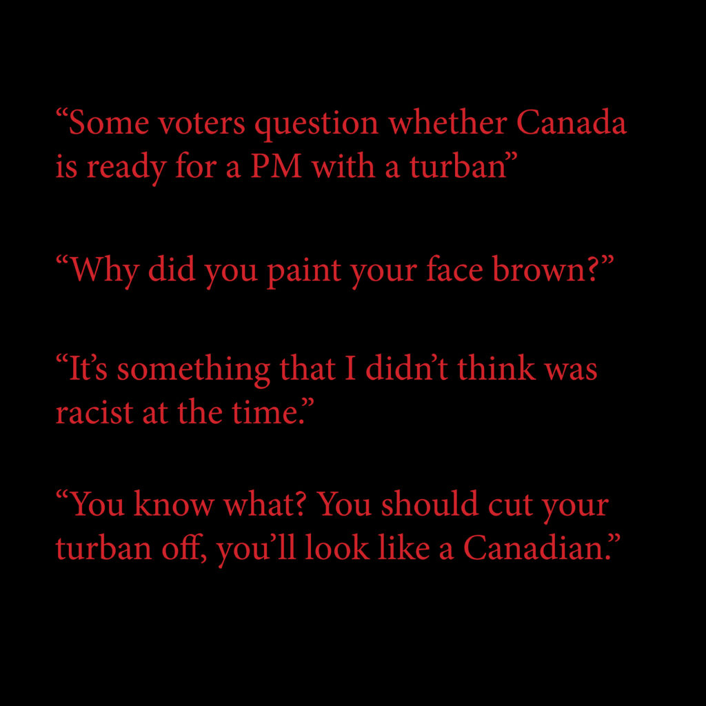 Racism in the Canadian Election 2019.