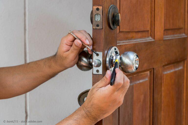 Lock installation on a door