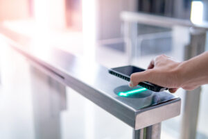 Turnstile entry with smartphone