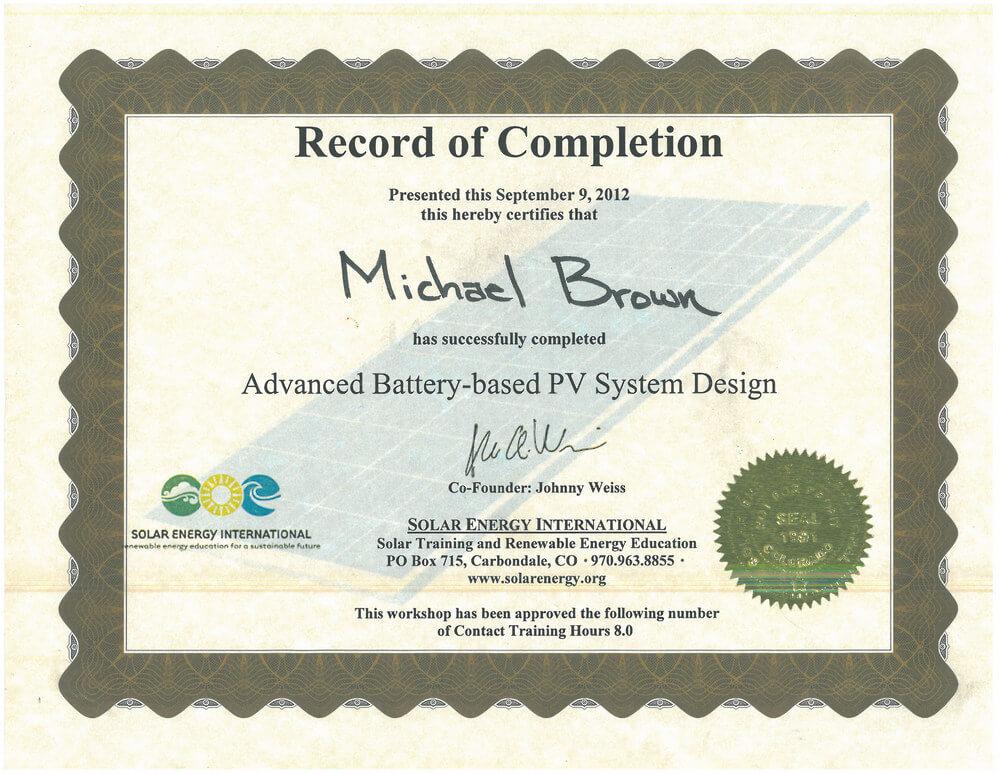 Solar Energy International 2012