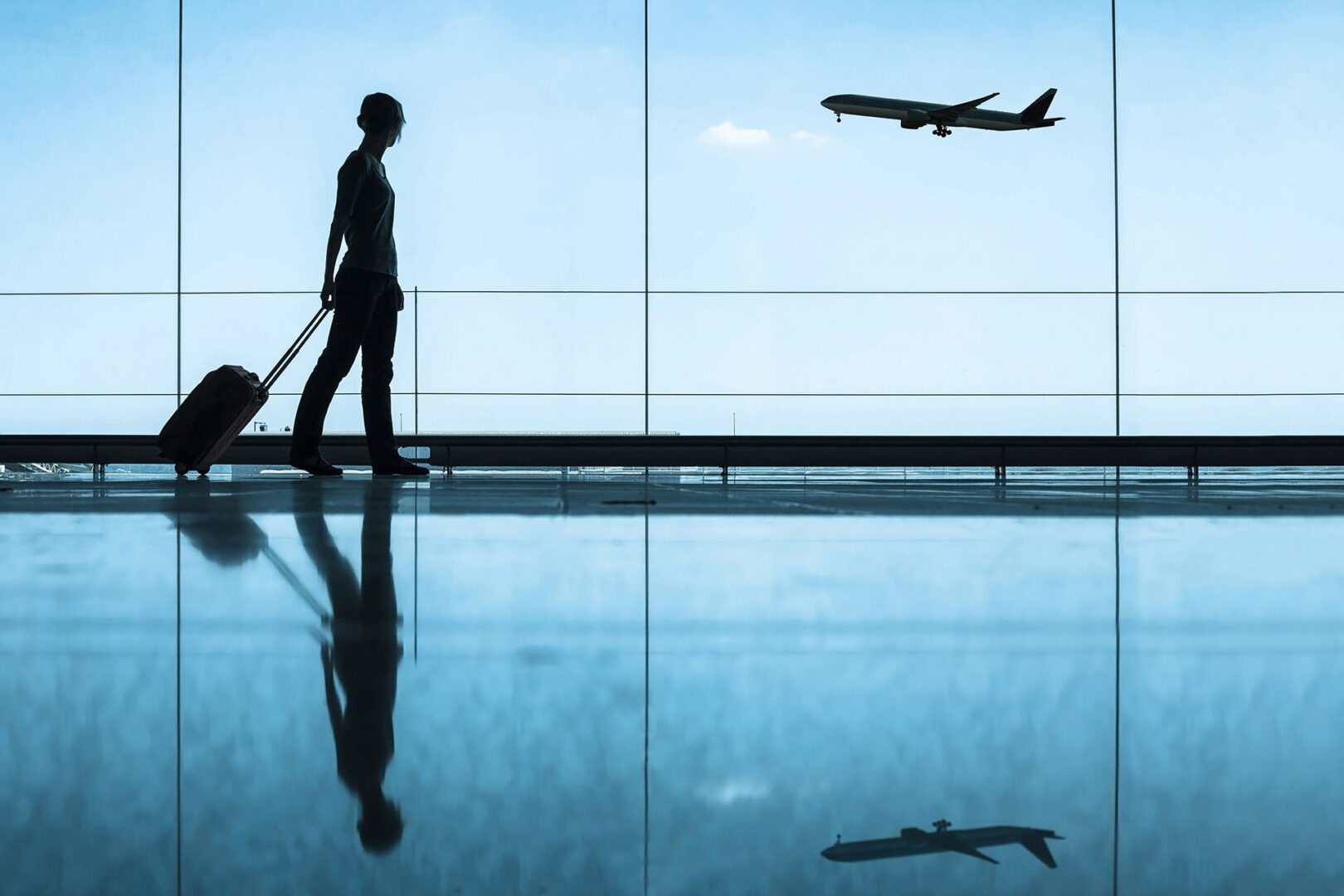 travel concept, people in the airport