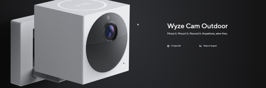 Screenshot of Wyze Outdoor Cam ready for pre-release