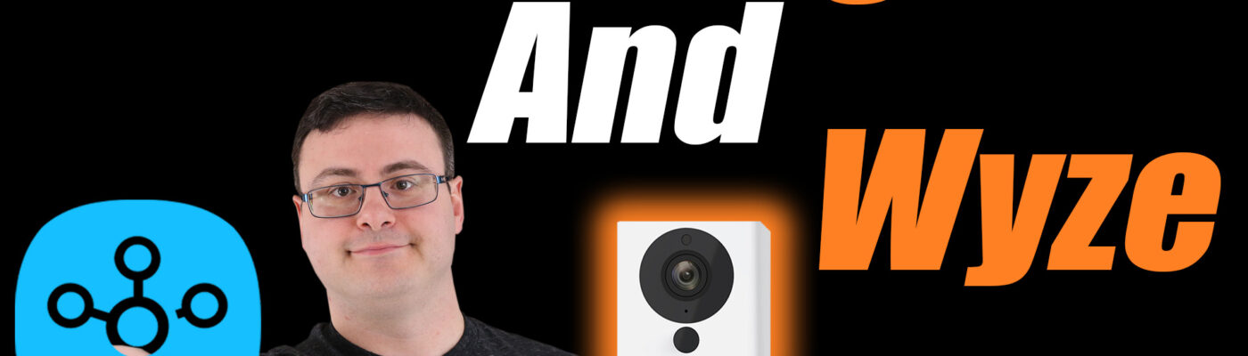 Brian from Automate Your Life YouTube Channel holding SmartThings and Wyze