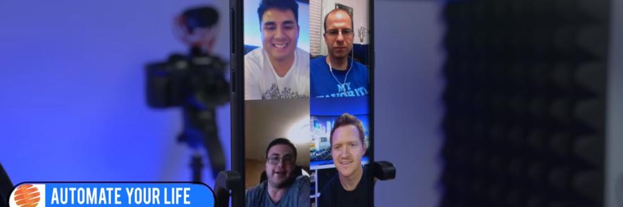 YouTube Creators on Google Duo Phone