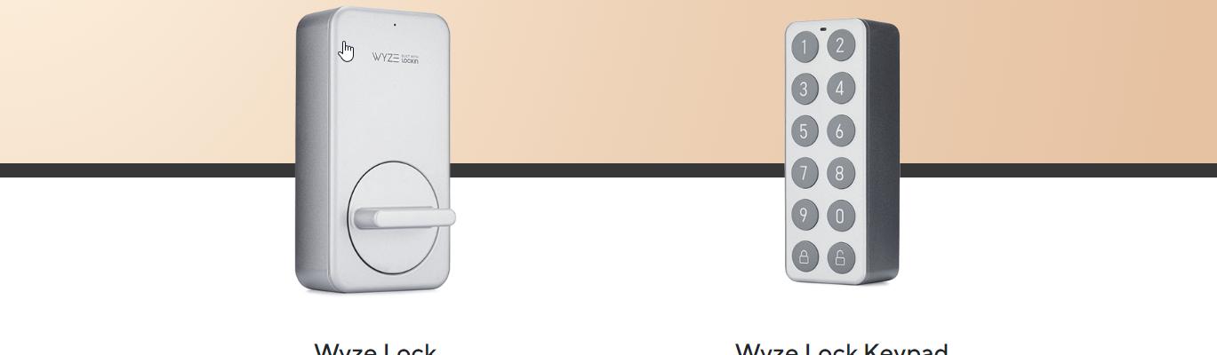 Screenshot of Wyze Lock and Wyze Lock Keypad