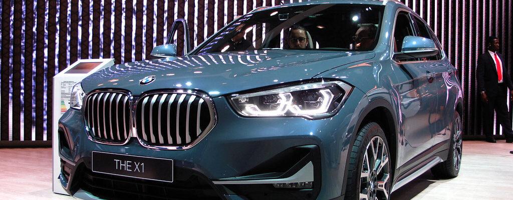 The BMW X1 on display at IAA Frankfurt