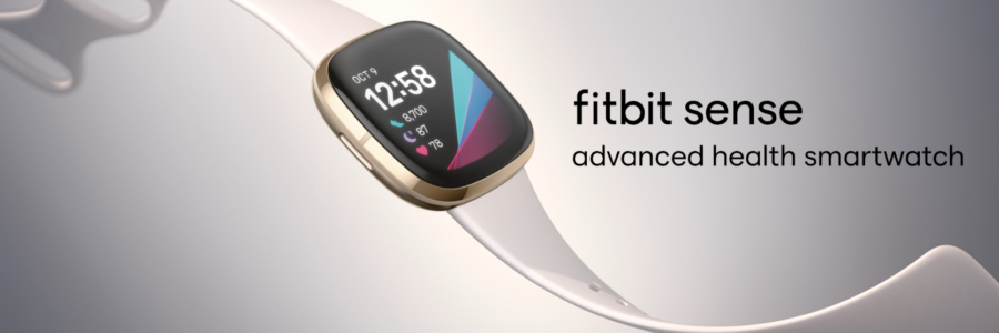 Decorative picture of the new Fitbit Sense smartwatch