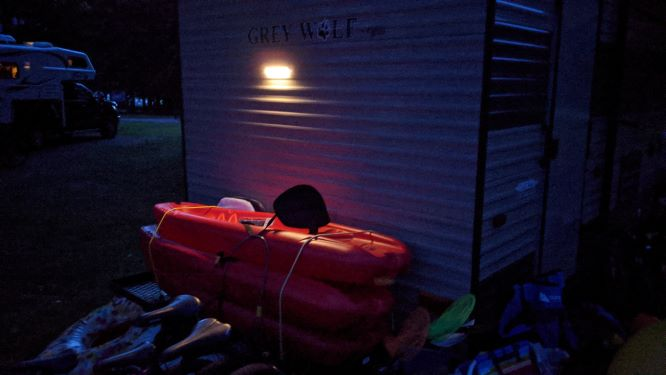 Automatic Smart Light on Back of Trailer at Night
