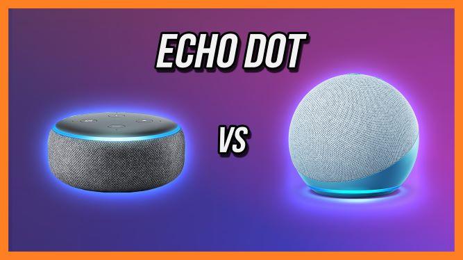 Echo Dot 3rd Generation beside Echo Dot 4th Generation