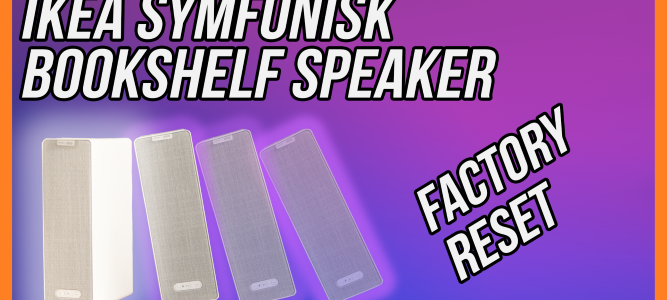 IKEA SYMFONISK Bookshelf Speaker arranged as falling dominoes