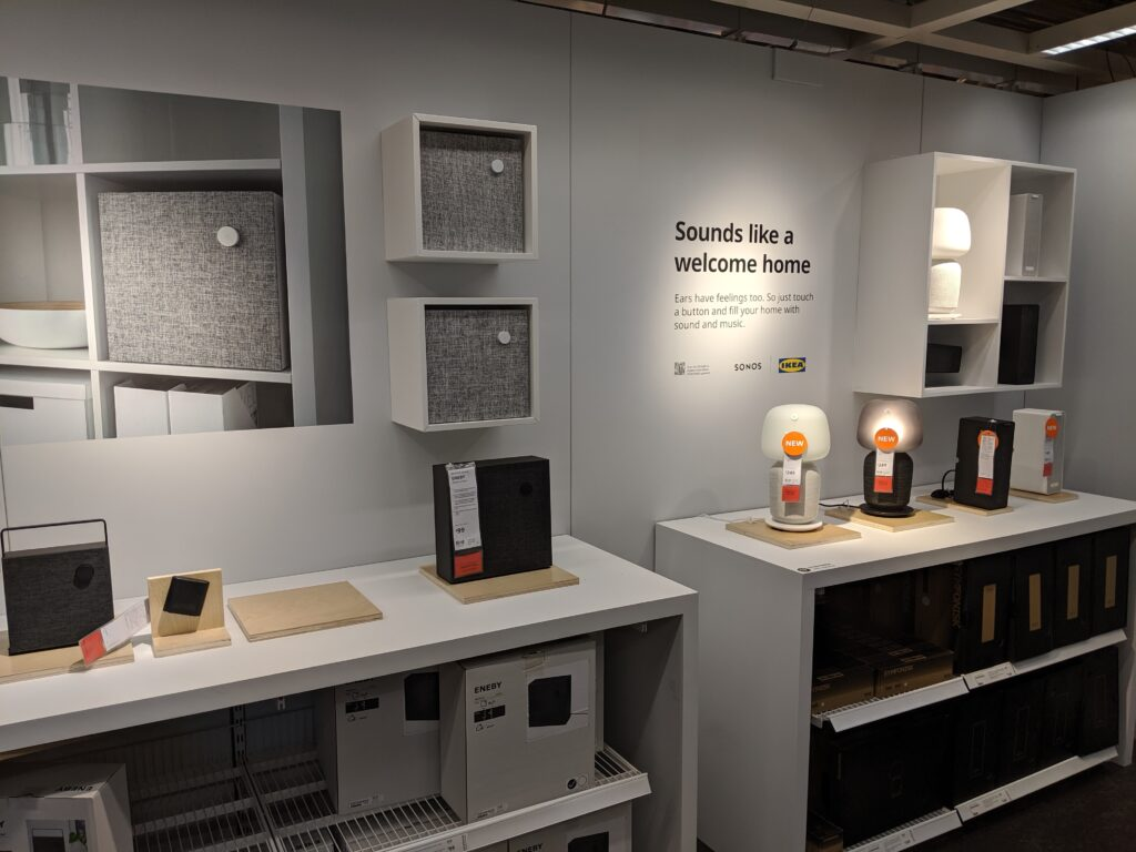 Ikea Smart Home Showroom with Ikea Symfonisk, Eneby Speakers and Ikea Smart Home products