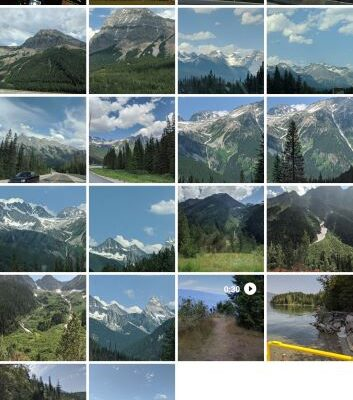Screenshot of Google Photos App