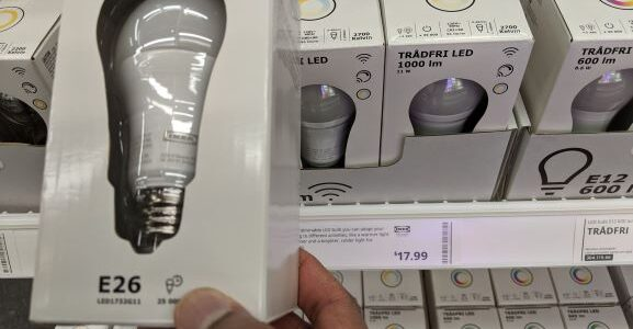 Tradfri lightbulb with Zigbee at Ikea Store