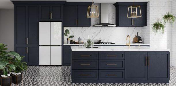 Samsung Kitchen withe New Samsung Bespoke 4-door Flex Fridge