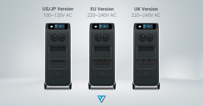 US-Japan, EU and UK Version of the Bluetti EP500 Powerstations