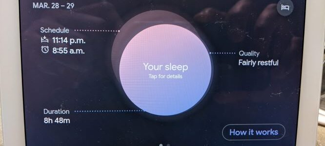 Your Sleep Summary on Nest Hub 2nd Gen