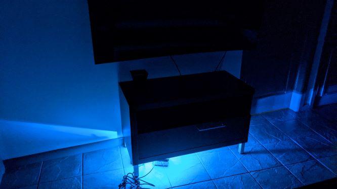 Novostella Smart LED Floodlight under Entertainment Area - Color Blue