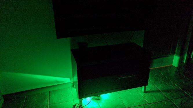 Novostella Flood Light RGBCW Green in Living Room