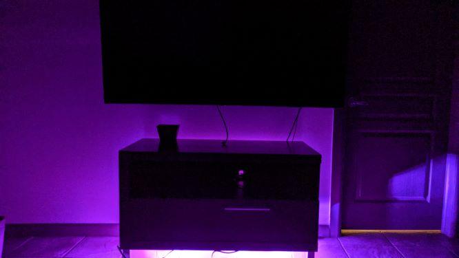 Novostella Flood Light RGBCW Purple in Living Room