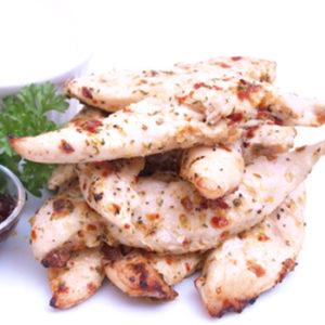 marinated chicken goujons