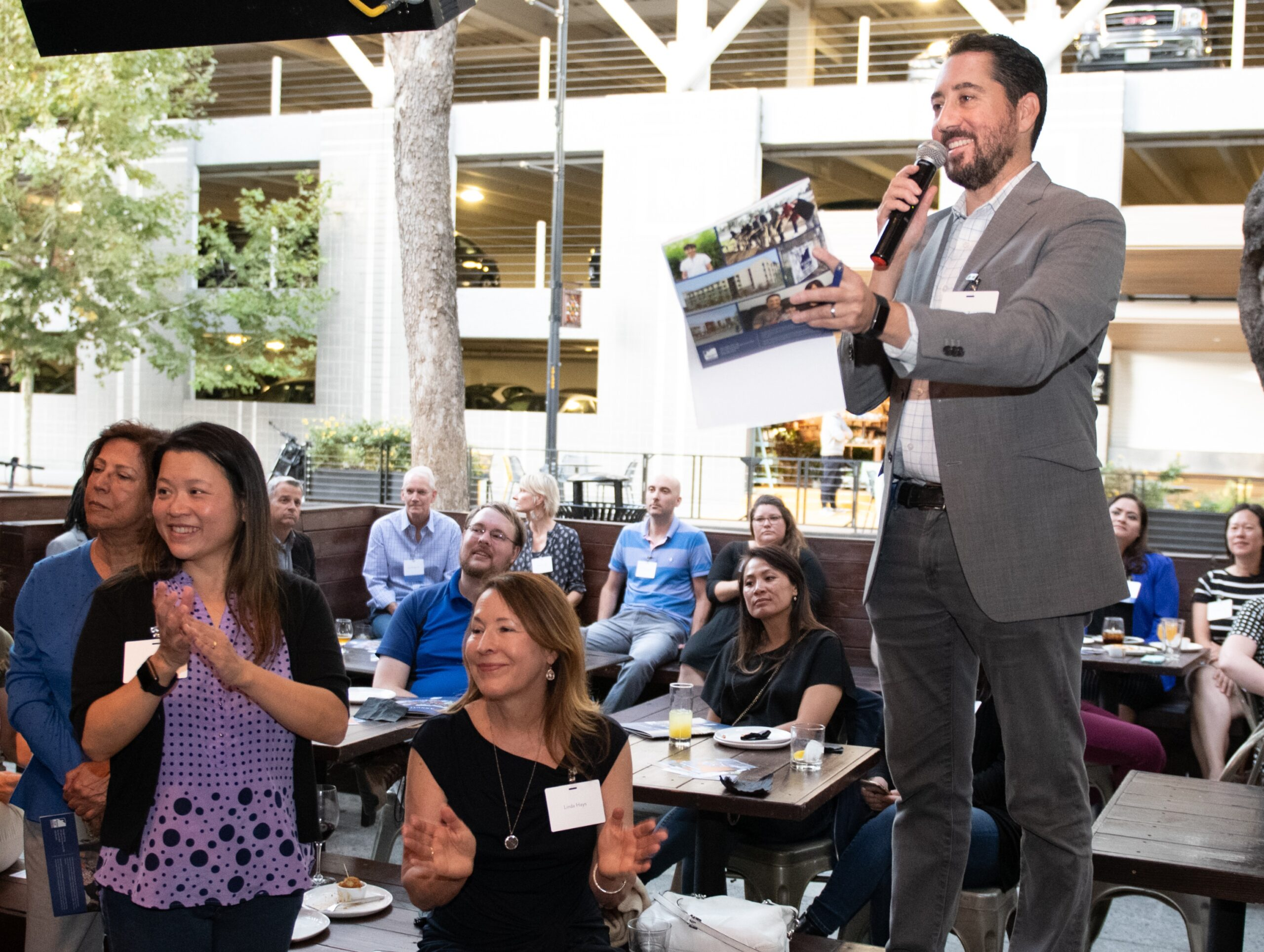 Kevin Zwick speaking at On the House 2019 in downtown San Jose