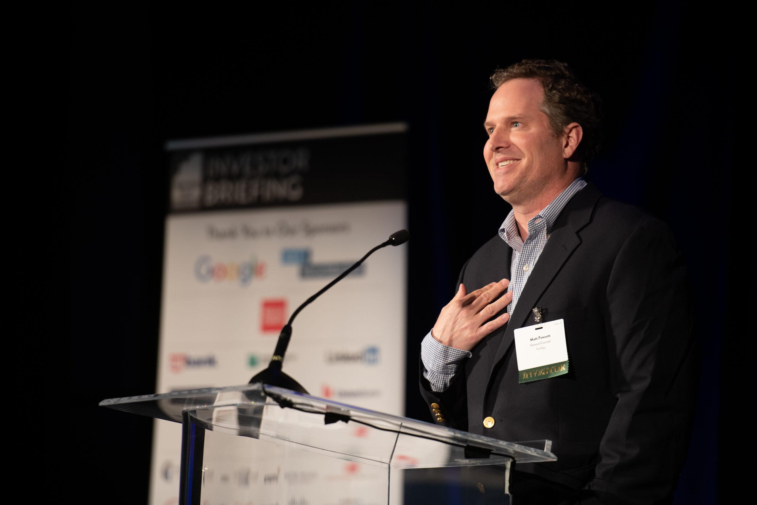 Matt Fawcett, Senior Vice President and General Counsel of NetApp