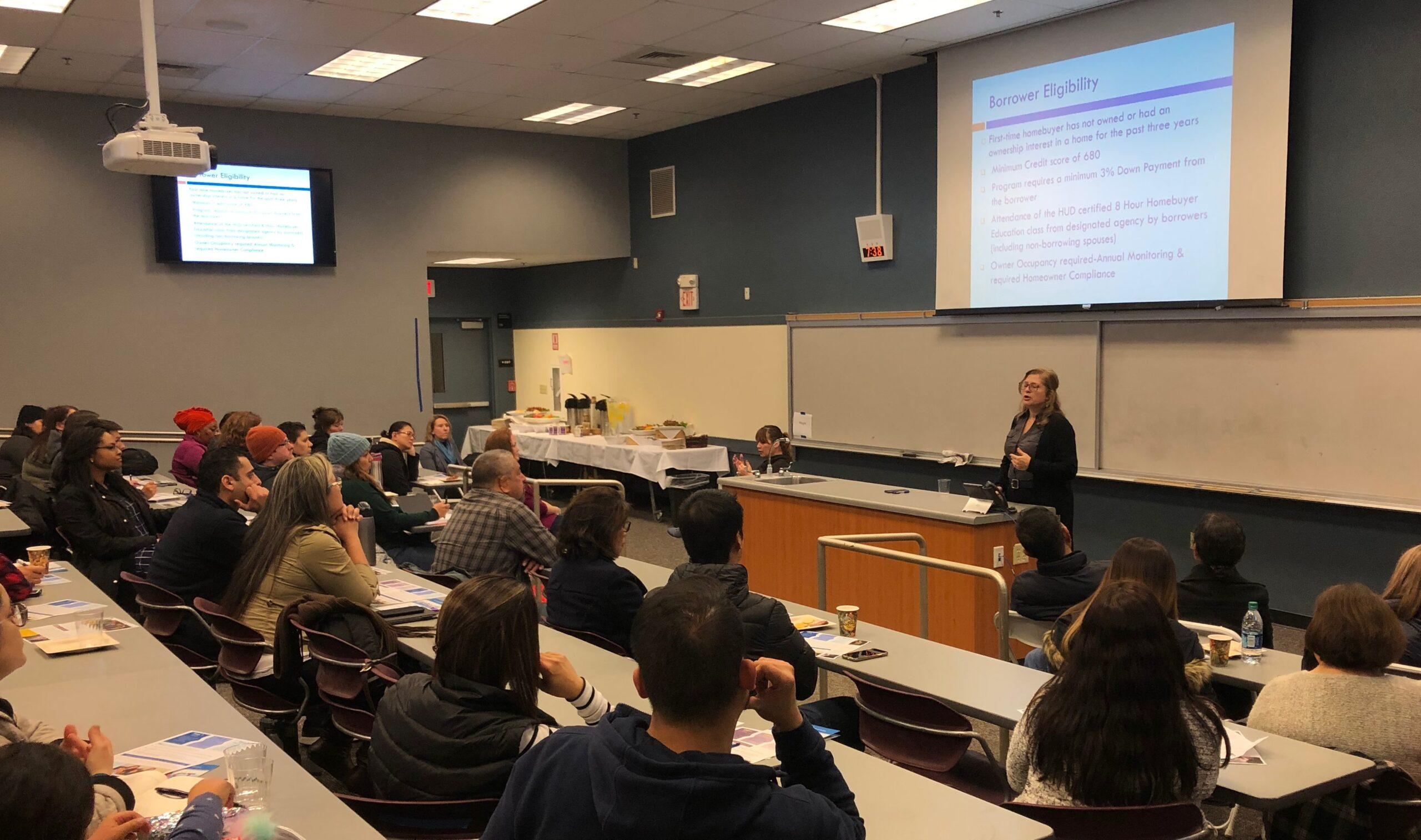 Adria Quinones-Masur at February 19, 2019 Empower Homebuyers SCC workshop