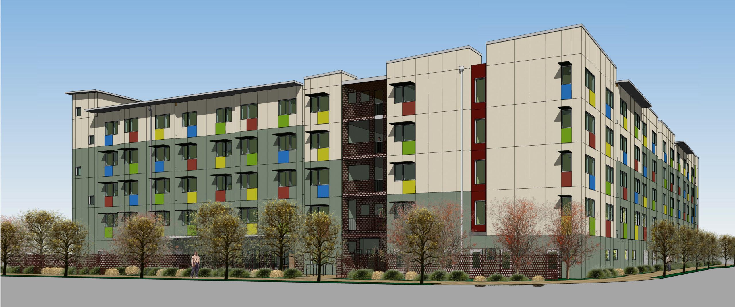 Rendering of Corvin development in Santa Clara