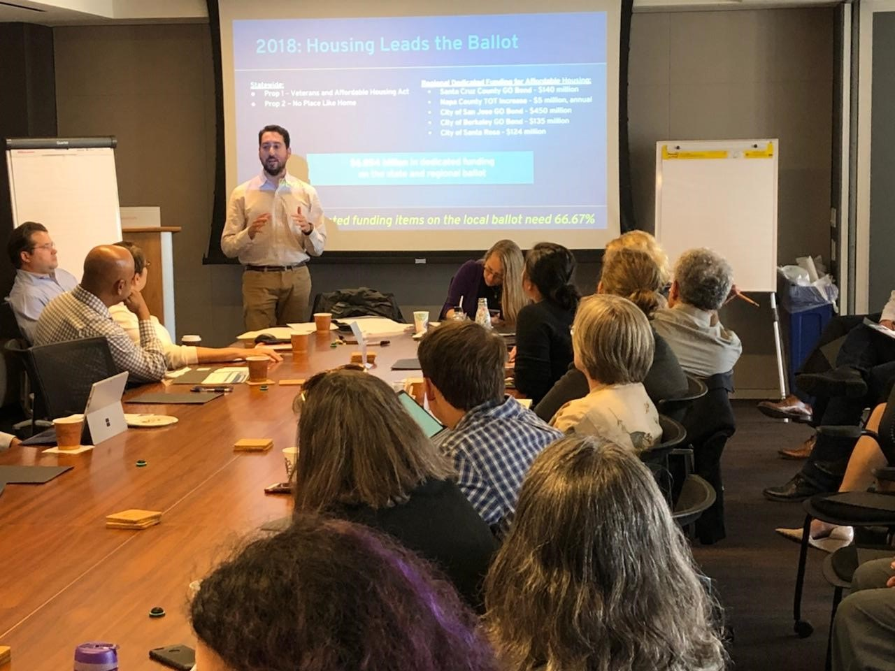 Kevin Zwick giving a presentation at NPH in Northern California