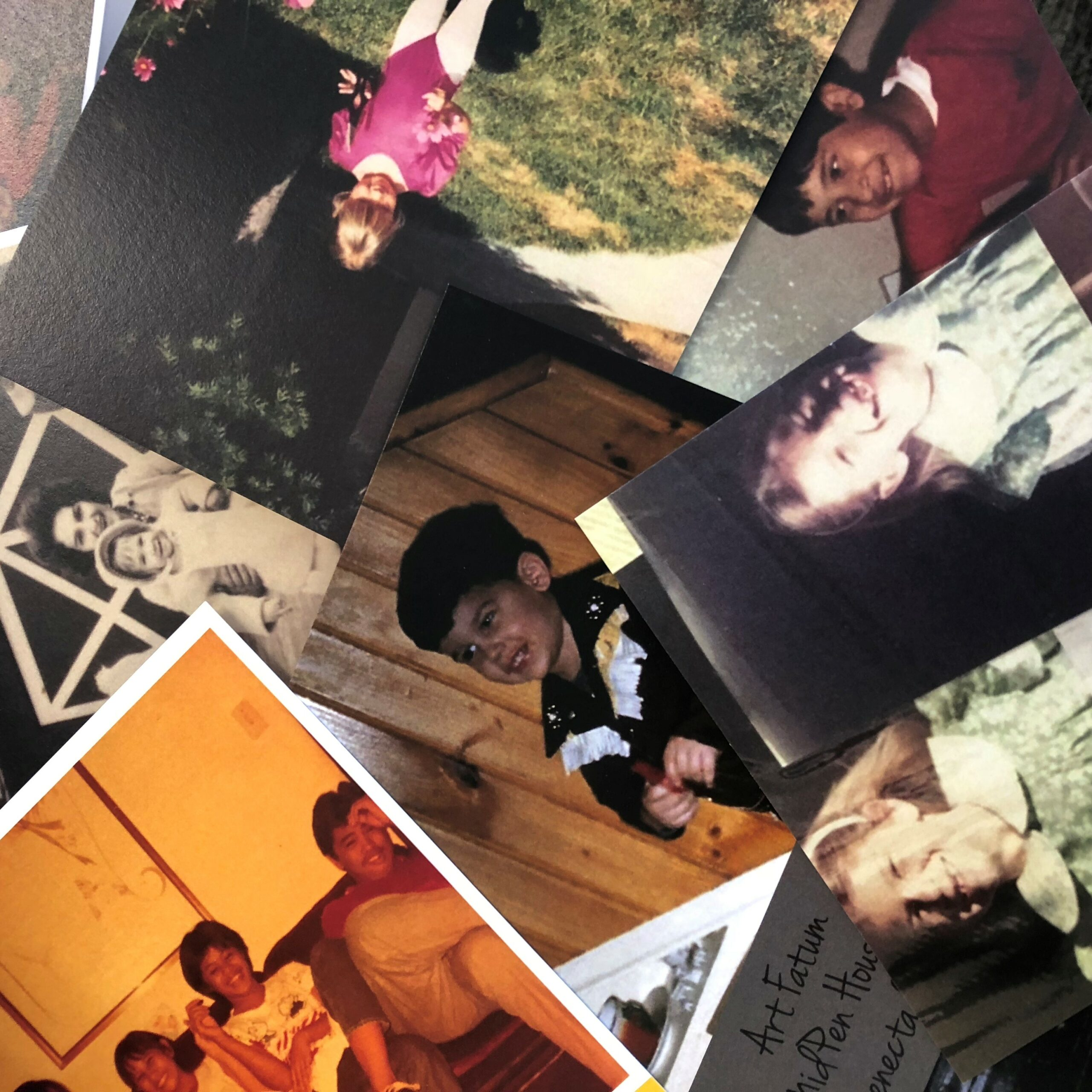 Some of the childhood photos on display at 2018's 'On the House' - the next OTH is Oct. 7, 2019 at District SJ in San Jose