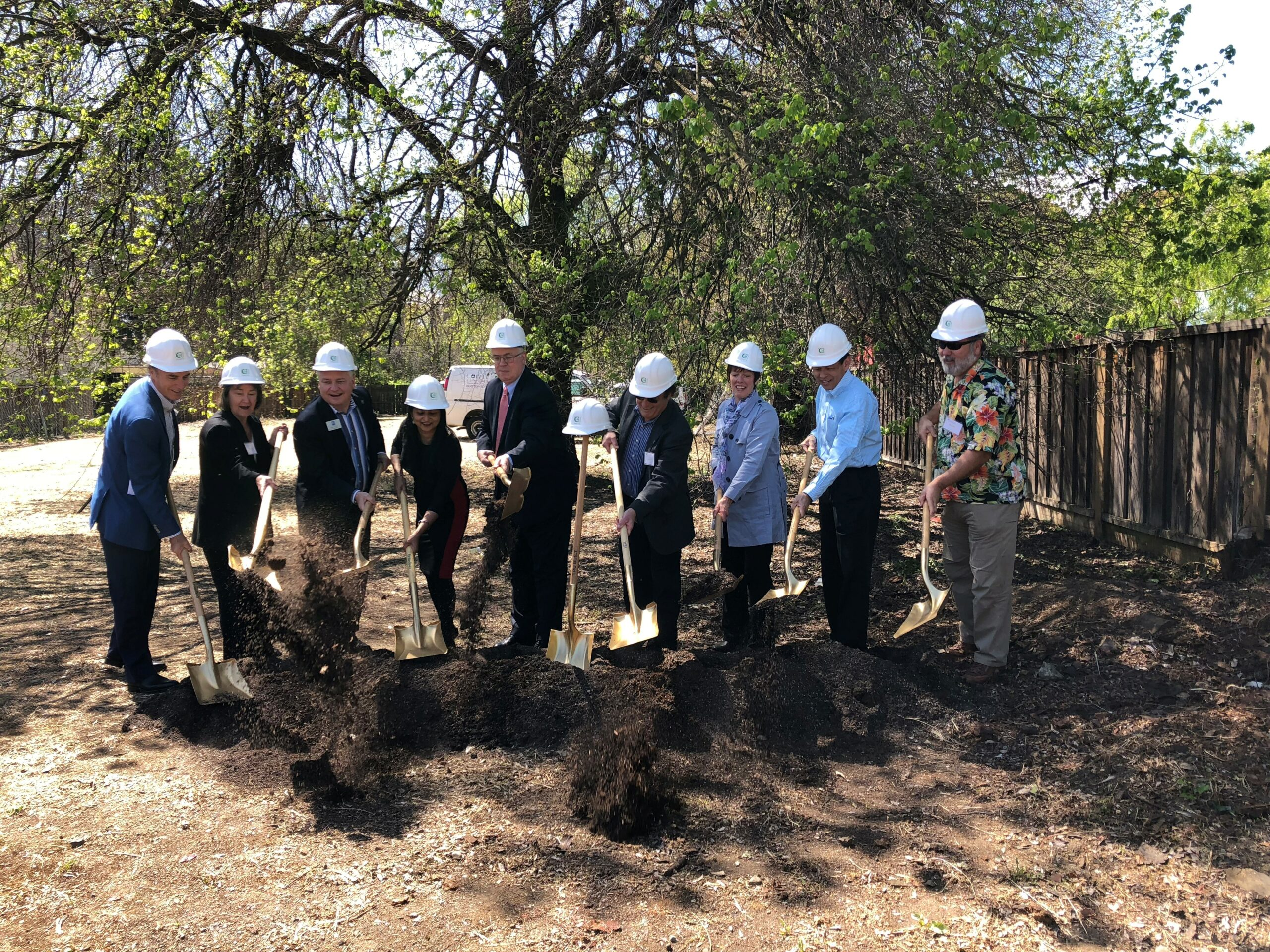 At the Veranda groundbreaking in Cupertino, April 19, 2018